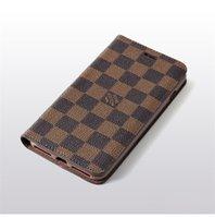 iphone wallets für frauen großhandel-Slim Monogram Classic Leder Brieftasche für Apple iPhone XS Max / XR 8/7/6 Plus mit Kartenhalter Flip Bumper für Frauen Mädchen