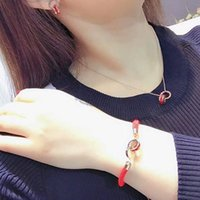 римские цифры оптовых-Gold Roman Numerals Circle Pendant Necklace Red Crystal Pendant Bracelet Earring Ear Stud  Jewelry Gift For Women Girls