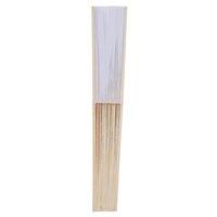 weiße papierhandfächer großhandel-Packung mit 12 Stück Hand Fans White Paper Fan Bambus Faltfächer Handklapp Fan für Kirche Hochzeit Geschenk, Partei-Bevorzugungen, DIY Deco