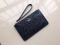 Wholesale wristlets for sale - Group buy brand designer clutch bags luxury wristlets Christmas stars wallets shining glitter sparkle coin purses card Holders for women colors