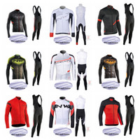 Wholesale cycling jerseys men long sleeve resale online - NW team Cycling Winter Thermal Fleece jersey kits mens Long sleeves for warmth and comfort Riding sports clothing bib pants sets Q72440