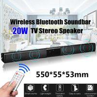 altavoces inalámbricos bluetooth tv al por mayor-2019 20W TV Speaker Soundbar bluetooth Wireless Theater Sound Bar Control remoto