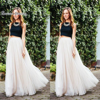 Wholesale maternity evening clothes resale online - Layered Tulle Custom Made A Line Cheap Party Prom Skirts Vestidos De Novia Women Clothing Cheap Prom Dress