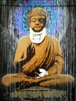 Wholesale art buddha paintings resale online - BANKSY STREET ART CANVAS Buddha Home Decor Handpainted HD Print Oil Painting On Canvas Wall Art Canvas Pictures