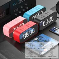 Wholesale usb subwoofer for laptop resale online - Bluetooth Portable Wireless Bluetooth Speaker Column Subwoofer Music Sound Box LED Time Snooze Alarm Clock for Laptop Phone