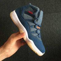 Wholesale lace up blue jeans for sale - Group buy High Quality s NRG Denim LS Blue Jeans Basketball Shoes Men Blue Denim Sneakers