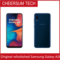 Wholesale battery android phone resale online - Unlocked Original Samsung Galaxy A20 Mobile phone quot inch Octa core GB RAM GB ROM Android mAh battery
