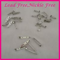 Quality Self Adhesive Brooch Pins Badge Fixing Plastic Back Bars 38mm Long