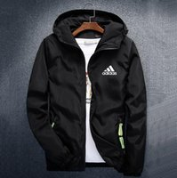 Wholesale men s clothes for autumn for sale - Group buy Autumn Mens Jackets Coat Brand Designer Hooded Jacket With Logo Windbreaker Zipper Hoodies For Men Sportwear Plus Size Clothing