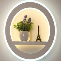 Wholesale modern ceramic lamp resale online - LED Wall Lamp Dimmable G Remote Control Modern Bedroom Living Room Decoration Lighting Wall Light With Flower And Tower W