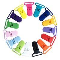 bebek bezi tutacağı toptan satış-Plastik Bebek Emzik Klipler için Şeffaf Emzik Klipler Yatıştırıcı Tutucu Bebek Emzik Nipeller Tutucu Renkli 20mm 20 adet / grup