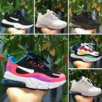 neue ankunftsschuhkinder großhandel-Nike Air Max 270 React Neue Ankunft scherzt 27 Trainer-Designer-Kind-athletisches Jungen-und Mädchen-Luft-Laufschuh-Kleinkind-Geschenk