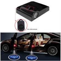 yeni ışık logosu toptan satış-Ford, BMW Toyota Volkswagen Audi Chevrolet Mazda İçin Yeni Evrensel Kablosuz Araç Kapı Karşılama Logo Işık Projektör LED Lazer Lamba