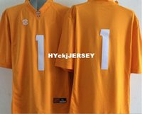 jerseys de futebol frete grátis venda por atacado-Outlet- fábrica Logo costurado 2015 New Style Tennessee Volunteers # 1 Jalen Hurd Jersey American College Football Jerseys frete grátis