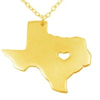 Wholesale texas necklace resale online - Heart Texas state map Necklaces statement Necklaces jewelry Personalized Stainless steel pendant necklace State Charm map jewelry