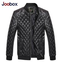 ingrosso uomini di giacca moto nero-Giacca uomo in pelle PU Primavera Autunno Nuova moda Uomo Giacche cappotto Giacca moto Plus Size con colore nero e marrone