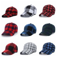 красные шапки оптовых-Baseball Caps Men Black Red Plaid Bone The Korean version Snapback Cap Adjustable Caps Leisure Gorras Outdoor Beach Baseball Hat LJJJ110