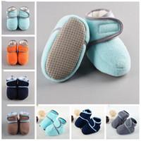 Wholesale crochet babies shoes resale online - Kids Shoes Baby First Walkers Toddle Fleece Soft Sole Boots Skid Proof Boys Moccasins Prewalker Booties Floor Walker Shoes Boots CZYQ5538