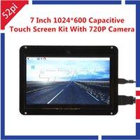 polegadas janelas capacitivas venda por atacado-52Pi Driver Livre 7 polegada 1024x600 Kit de Exibição de Tela de Toque Capacitivo com Câmera 720P para Raspberry Pi / Windows / Preto Beaglebone