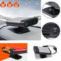 Wholesale 12v hot fan resale online - 1PC W V Portable Car Heater Heating Fan Defroster Demister Hot Clod