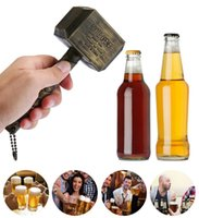Wholesale bottle hammer resale online - Silver Beer Bottle Openers Multifunction Hammer Of Thor Shaped Beer Bottle Opener With Long Handle Bottler Opener Beer WCW627
