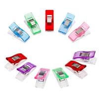 outils de travail en plastique achat en gros de-9 couleurs Biais Bande Cas Pied Fournitures En Plastique Clip Gaine Travail BRICOLAGE À Coudre Outils Bonbons Couleur À Coudre Accessoires