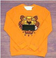 женские тигровые пуловеры оптовых-XXLКензо качество вышивки тигровая голова мужчины женщины балахон хип-хоп бег трусцой спортивная мода уличная одежда Harajuku толстовки