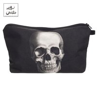 Wholesale skulls makeup bag resale online - Who Cares Fashion printing Skull Monster Makeup Bags Cosmetic Organizer Bag Pouchs For Travel Lady Pouch Women Cosmetic