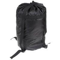 pequenos sacos de nylon venda por atacado-À prova d 'água De Nylon Material De Compressão Sack Bag Saco de Dormir Acampamento Ao Ar Livre Pequeno Preto Cordão