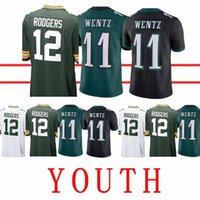 227c7a41c Wholesale aaron rodgers jerseys resale online - YOUTH Philadelphia Eagle Jersey  Carson Wentz Green Bays Packer
