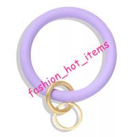 Wholesale silicone clutches for sale - Group buy Silicone Bracelets Hot Sale cm Woman Purse Bracelets with keychains Keyrings Solid Color Clutch Bag Bracelets