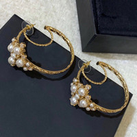 Wholesale white gold zirconia earrings resale online - Fashion brand Have stamps moon designer earrings for lady women Party wedding lovers gift engagement luxury jewelry for Bride With BOX