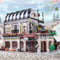 ZHEGAO QL0920 3577pcs Creator Stree View Series MOC Romantic Restaurant Building Blocks Bricks Children Toys Gifts