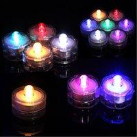 ingrosso le luci di tè di qualità hanno condotto-a lume di candela a LED sommergibili impermeabile carica della batteria Tea Lights Decorazione della candela di Natale di cerimonia nuziale di alta qualità decorazione luce TL1115