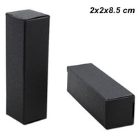 Wholesale black kraft gift boxes for sale - Group buy 100 Black x2x8 cm Kraft Paper Lipstick Perfume Bottle Packing Box Kraft Paper Lip Stick DIY Handmade Party Gifts Cardboard Storage Box