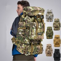 bolsas de mochila del ejército al por mayor-6 estilos 70L Camo Tactical Mochila Ejército Militar Senderismo impermeable Mochila de camping Mochila de viaje Bolsa de escalada deportiva al aire libre FFA1968
