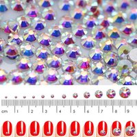 ingrosso super art piatta-SS3-SS30 Super Glitter Crystal AB accessori Flat Back Vetro Chameleon Nail Strass per Charms 3D Nails Art Decorations