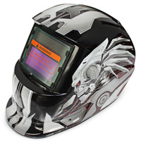 Wholesale electric welding helmets resale online - Cheap Helmets Welding Helmet Solar Energy Automatic Changeable Light Electric Welding Protective Helmet with Hero Character Pattern
