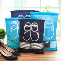 Wholesale shoe boot storage for sale - Group buy Boot Shoe Storage Drawstring Bag Portable Travel Organizer Shoe Bag Carry Dustproof Case Window Pouch Storage Waterproof Bags TTA116