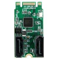 controladores sata venda por atacado-M.2 Para 2 Portas Placa Controladora SATA 3.0 Chave B + M (PCI e) NGFF para dual 7Pin SATA 6GB