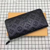diseñador de billetera con cremallera al por mayor-Venta al por mayor cremallera larga cartera de mujeres clásicas de tela escocesa larga con cremallera bolsillo diseñador hombres monedero titular de la tarjeta