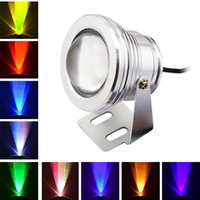 Wholesale New W RGB LED Underwater Light Waterproof IP68 Fountain Swimming Pool Lamp Colorful Change With Key IR Remote
