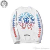boutique blusas mulheres venda por atacado-Cromos corações dos homens do hoodie marca maré homens camisola camisola designer boutique colorido de impressão e mulheres casal sweater sweatshirt tendência da moda