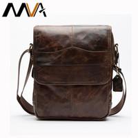 Wholesale male body straps resale online - MVA Men s Bags Genuine Leather male Crossbody Bags strap Small Casual Flap Men Leather messenger bag men s shoulder bag