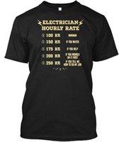 taxa de algodão venda por atacado-Beetee Eletricista Taxa De Hora Por Hora - 100 HR Mínimo 150 Se Atacado Legal Casual Mangas de Algodão T-Shirt Da Moda Nova T Camisas Tagless Tee T-Shirt