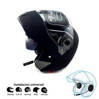Wholesale visor phone resale online - NEW Motorcycle bluetooth helmets Flip up JIEKAI double visor helmets Racing connect phone helmet