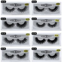 Wholesale mink eyelashes single for sale - Group buy SD Series Single pair of D mink hair false eyelashes pure mink thick multi layer sharpening eyelashes Extension lash boxes