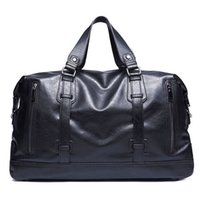 Wholesale vintage leather luggage for sale - Group buy Fashion Men s Travel Bags Waterproof Suitcase Duffel Bag Large Capacity Luggage Bag Casual High Quality Leather Handbag Pt1189