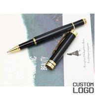 ingrosso penne per ufficio personalizzate-Firma con nome stampato Penne personalizzato inciso metallo Penna a sfera Business Office regalo Classic Pen Student cancelleria