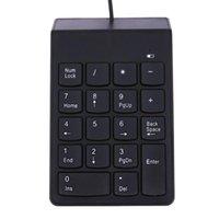 dizüstü bilgisayar notu toptan satış-Yeni USB Mini 18-keys Num Pad Sayısal Numarası Tuş Takımı Klavye Laptop Not için
